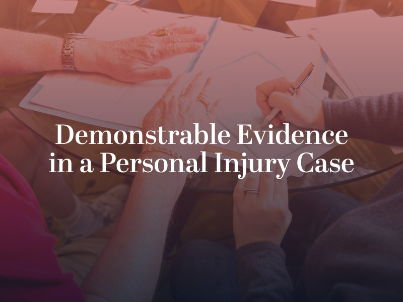 Evidence for a personal injury case