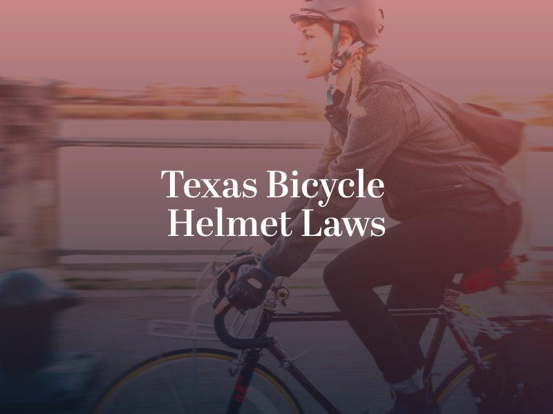 Texas Bicycle Helmet Laws